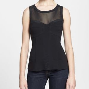 New! Search for Sanity Corset Black Tank Sz Small